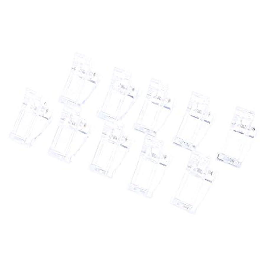 ビジネスカリングアシスタントInjoyo 10ピース/個/セットポリジェルクイックビルディングネイルアートヒント爪用クリップ-UV LEDネイルプラスチックアシスタントツール