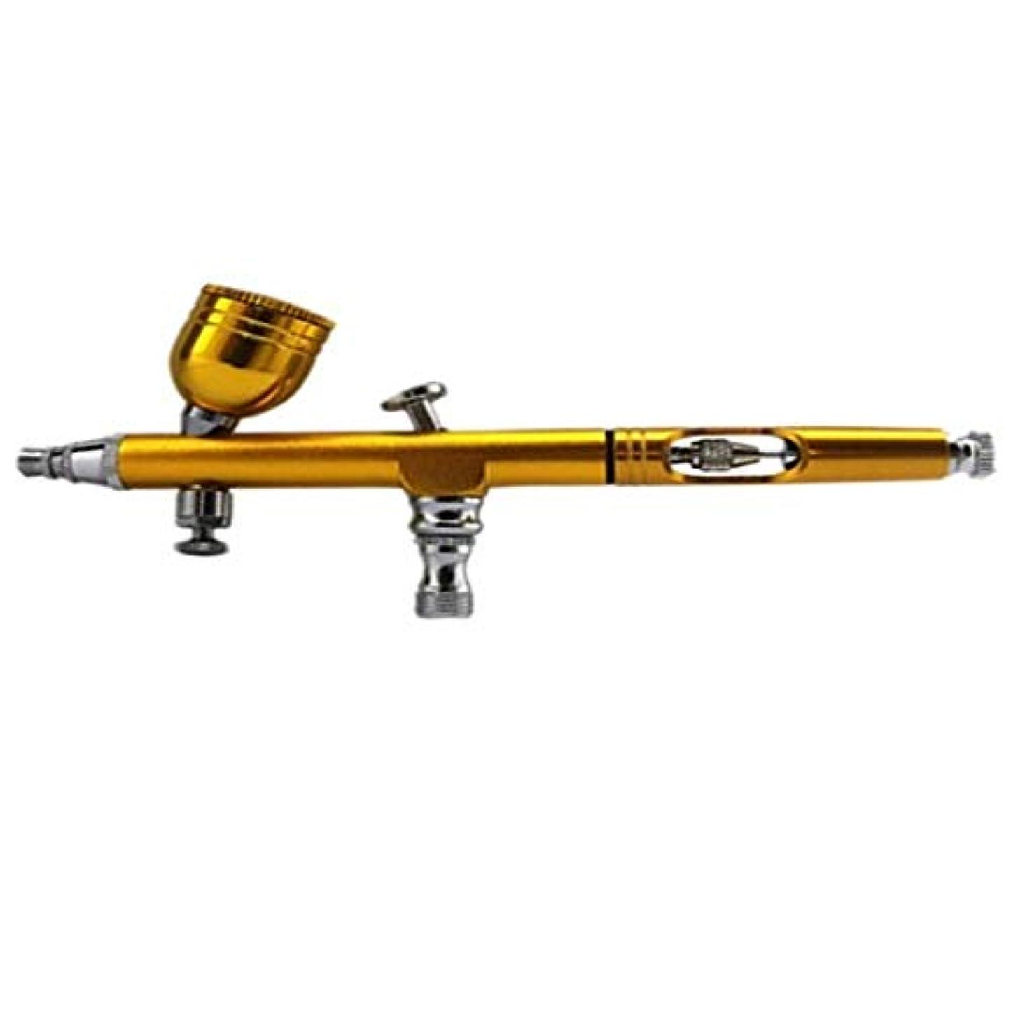 吸収シャツ粘り強いMEI1JIA ネイルアートペイントタトゥーエアブラシ用CELINEZLエアブラシスプレーツール (色 : Golden)