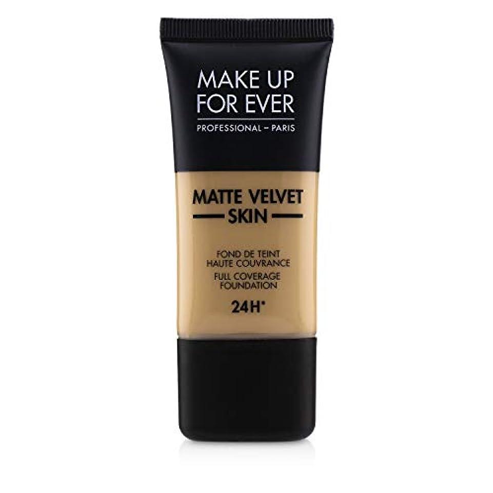 うまれた下向きテーブルを設定するメイクアップフォーエバー Matte Velvet Skin Full Coverage Foundation - # Y315 (Sand) 30ml/1oz並行輸入品