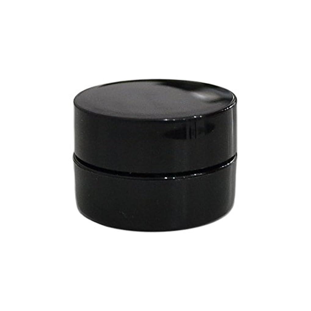 疑いフェザーぬるい10個セット/純国産ネイルジェルコンテナ 3g用 GA3g 漏れ防止パッキン&ブラシプレート付容器 ジェルを無駄なく使える底面傾斜あり 遮光 黒 ブラック