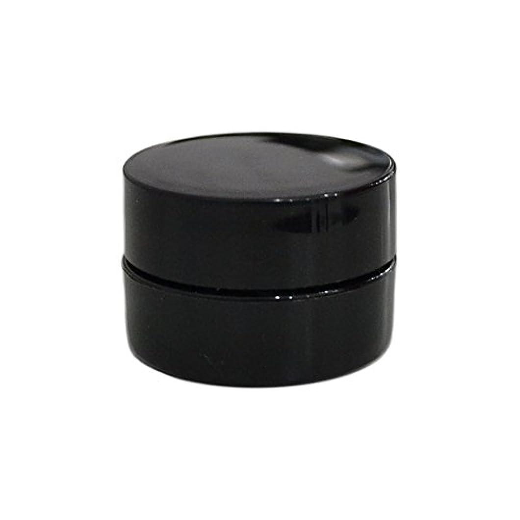 道を作るスポットダム10個セット/純国産ネイルジェルコンテナ 3g用 GA3g 漏れ防止パッキン&ブラシプレート付容器 ジェルを無駄なく使える底面傾斜あり 遮光 黒 ブラック