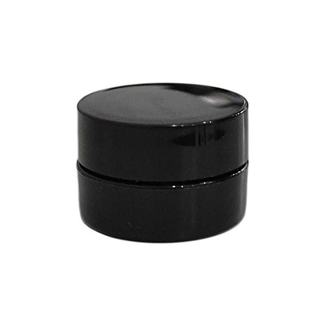 定数旅ホイスト10個セット/純国産ネイルジェルコンテナ 3g用 GA3g 漏れ防止パッキン&ブラシプレート付容器 ジェルを無駄なく使える底面傾斜あり 遮光 黒 ブラック