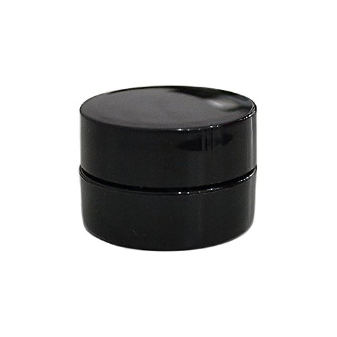 やけど食器棚ビット純国産ネイルジェルコンテナ 3g用 GA3g 漏れ防止パッキン&ブラシプレート付容器 ジェルを無駄なく使える底面傾斜あり 遮光 黒 ブラック