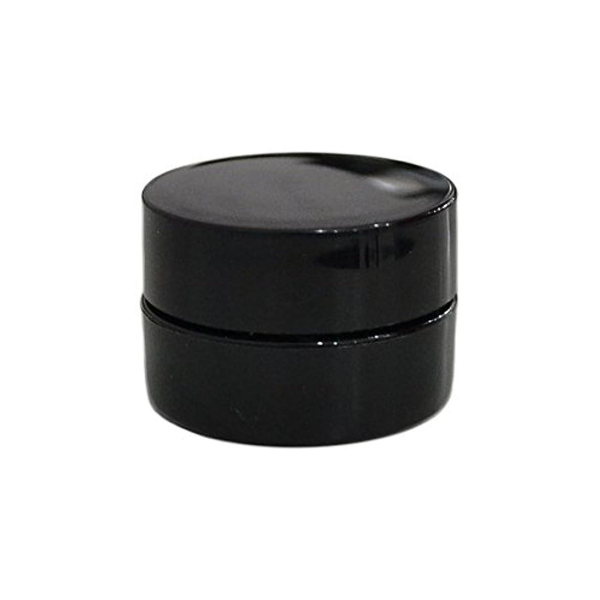 略語懐違法10個セット/純国産ネイルジェルコンテナ 3g用 GA3g 漏れ防止パッキン&ブラシプレート付容器 ジェルを無駄なく使える底面傾斜あり 遮光 黒 ブラック