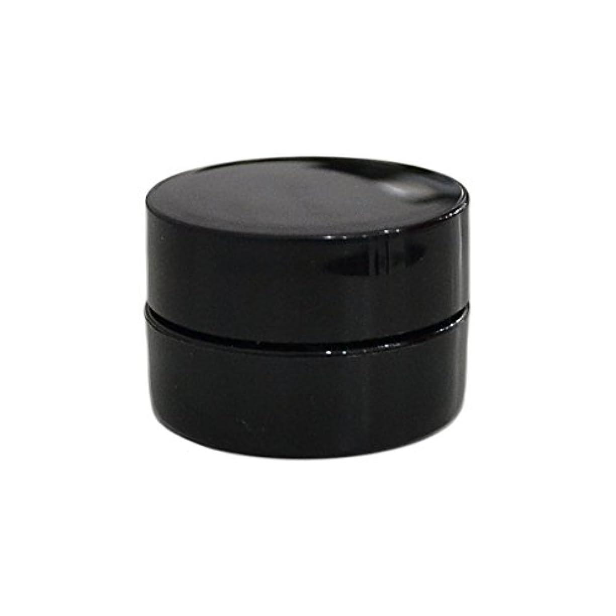 息切れ名前でマイク純国産ネイルジェルコンテナ 3g用 GA3g 漏れ防止パッキン&ブラシプレート付容器 ジェルを無駄なく使える底面傾斜あり 遮光 黒 ブラック