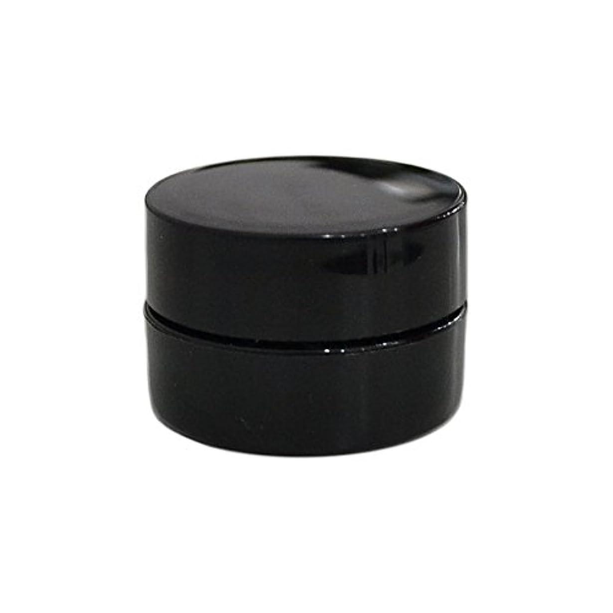 絶え間ない無視する10個セット/純国産ネイルジェルコンテナ 3g用 GA3g 漏れ防止パッキン&ブラシプレート付容器 ジェルを無駄なく使える底面傾斜あり 遮光 黒 ブラック