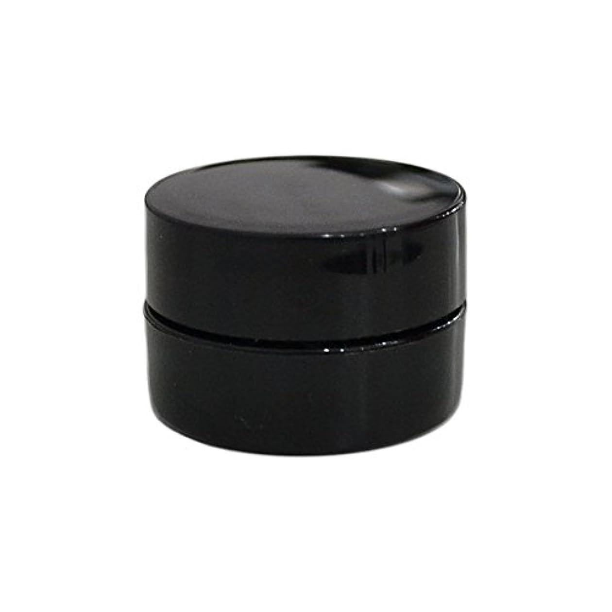 かなり原理欲しいです純国産ネイルジェルコンテナ 3g用 GA3g 漏れ防止パッキン&ブラシプレート付容器 ジェルを無駄なく使える底面傾斜あり 遮光 黒 ブラック