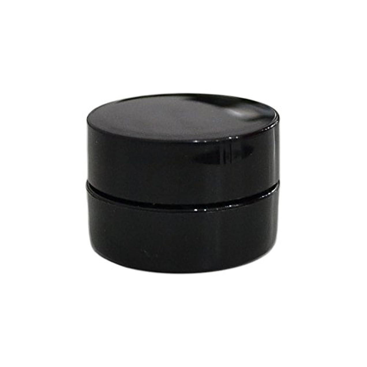 煩わしい防止有害10個セット/純国産ネイルジェルコンテナ 3g用 GA3g 漏れ防止パッキン&ブラシプレート付容器 ジェルを無駄なく使える底面傾斜あり 遮光 黒 ブラック