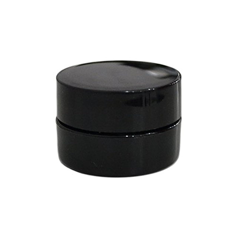 写真を撮るあそこ広告主純国産ネイルジェルコンテナ 3g用 GA3g 漏れ防止パッキン&ブラシプレート付容器 ジェルを無駄なく使える底面傾斜あり 遮光 黒 ブラック