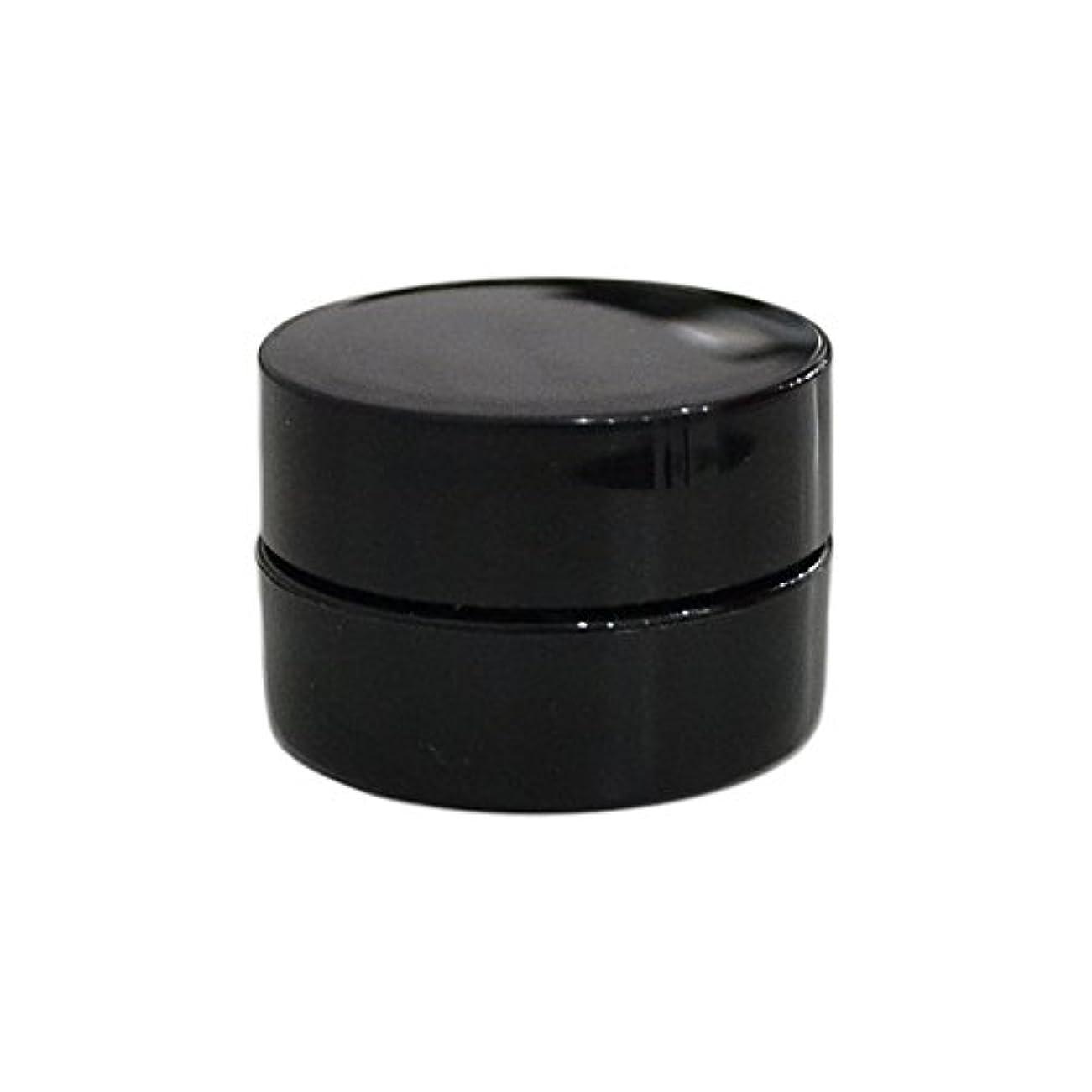 実用的時代延ばす10個セット/純国産ネイルジェルコンテナ 3g用 GA3g 漏れ防止パッキン&ブラシプレート付容器 ジェルを無駄なく使える底面傾斜あり 遮光 黒 ブラック