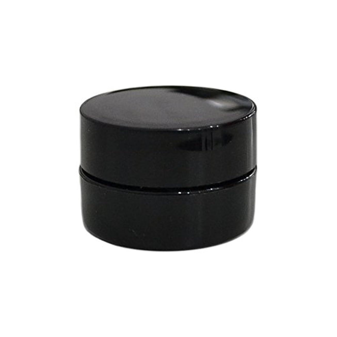 風刺動脈放送10個セット/純国産ネイルジェルコンテナ 3g用 GA3g 漏れ防止パッキン&ブラシプレート付容器 ジェルを無駄なく使える底面傾斜あり 遮光 黒 ブラック