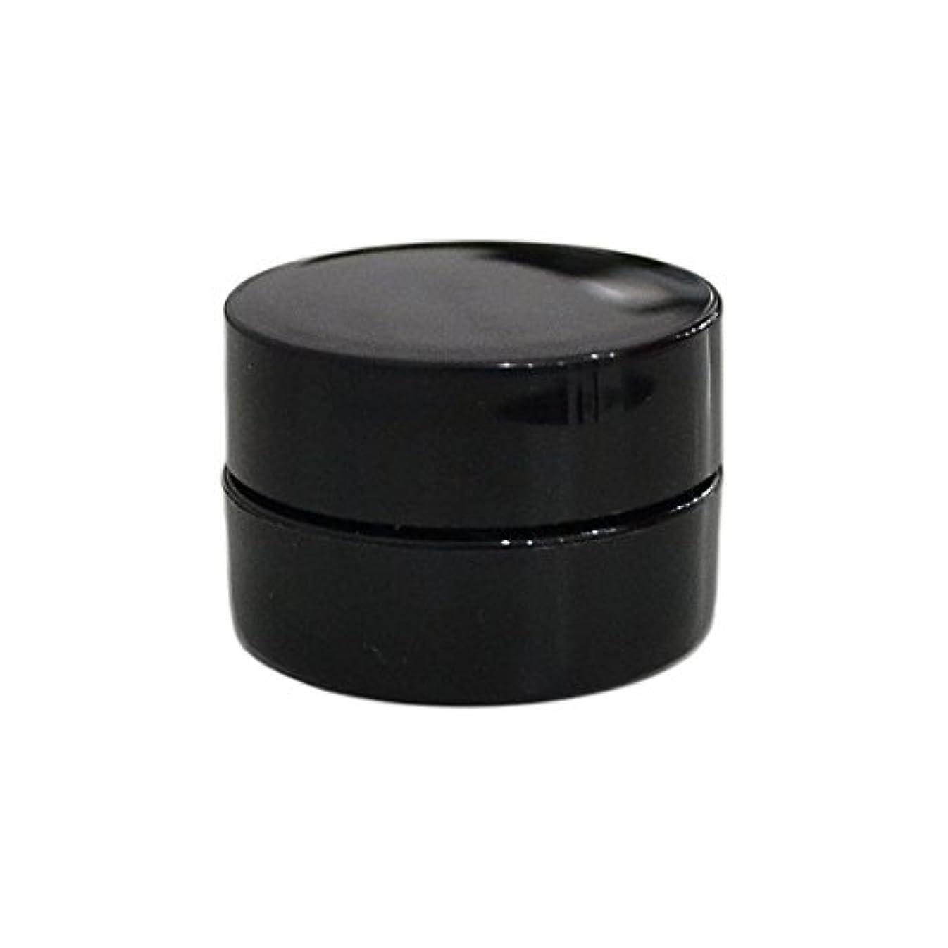 処理するピース浸食純国産ネイルジェルコンテナ 3g用 GA3g 漏れ防止パッキン&ブラシプレート付容器 ジェルを無駄なく使える底面傾斜あり 遮光 黒 ブラック