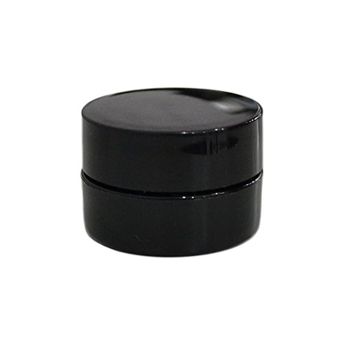 誘惑脱臼する意味のある10個セット/純国産ネイルジェルコンテナ 3g用 GA3g 漏れ防止パッキン&ブラシプレート付容器 ジェルを無駄なく使える底面傾斜あり 遮光 黒 ブラック