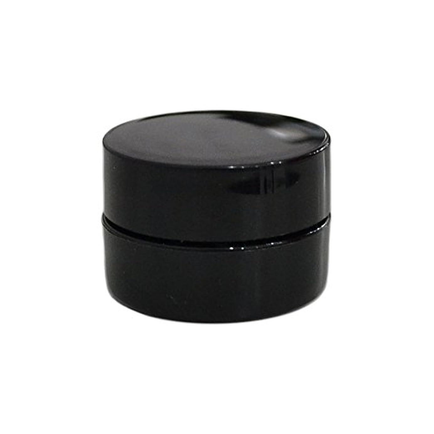 何でもクリーム行う10個セット/純国産ネイルジェルコンテナ 3g用 GA3g 漏れ防止パッキン&ブラシプレート付容器 ジェルを無駄なく使える底面傾斜あり 遮光 黒 ブラック