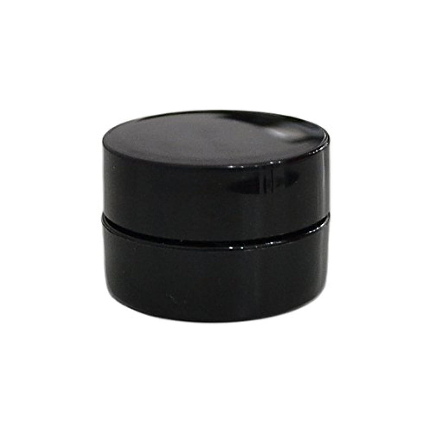 中古心のこもった実験室純国産ネイルジェルコンテナ 3g用 GA3g 漏れ防止パッキン&ブラシプレート付容器 ジェルを無駄なく使える底面傾斜あり 遮光 黒 ブラック