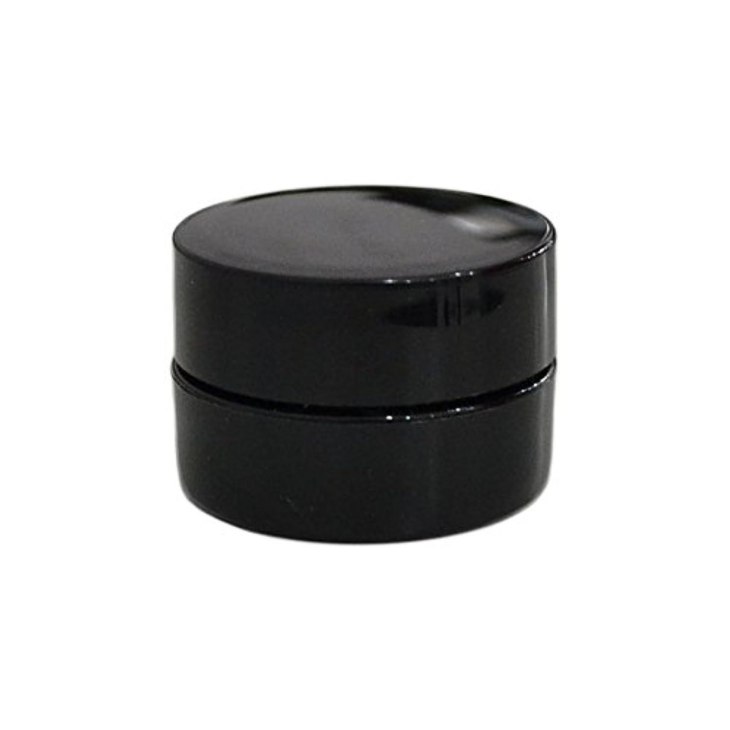 デッドロックフェリー仕出します純国産ネイルジェルコンテナ 3g用 GA3g 漏れ防止パッキン&ブラシプレート付容器 ジェルを無駄なく使える底面傾斜あり 遮光 黒 ブラック