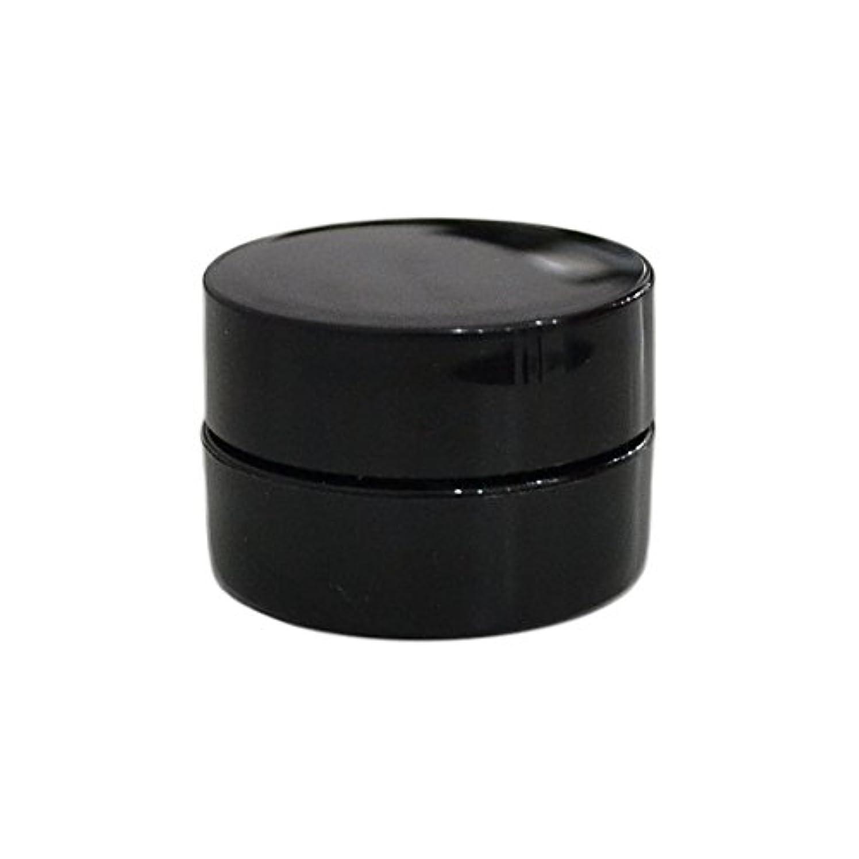 パーティション鋼未来純国産ネイルジェルコンテナ 3g用 GA3g 漏れ防止パッキン&ブラシプレート付容器 ジェルを無駄なく使える底面傾斜あり 遮光 黒 ブラック