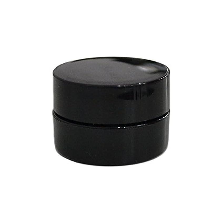 電信ボーナス掃く10個セット/純国産ネイルジェルコンテナ 3g用 GA3g 漏れ防止パッキン&ブラシプレート付容器 ジェルを無駄なく使える底面傾斜あり 遮光 黒 ブラック