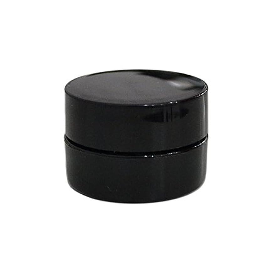 飼い慣らす計算可能減る10個セット/純国産ネイルジェルコンテナ 3g用 GA3g 漏れ防止パッキン&ブラシプレート付容器 ジェルを無駄なく使える底面傾斜あり 遮光 黒 ブラック