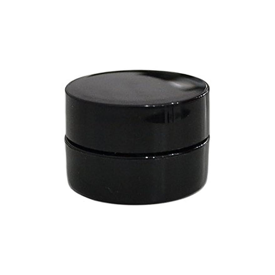 持続的クリスチャン大気純国産ネイルジェルコンテナ 3g用 GA3g 漏れ防止パッキン&ブラシプレート付容器 ジェルを無駄なく使える底面傾斜あり 遮光 黒 ブラック