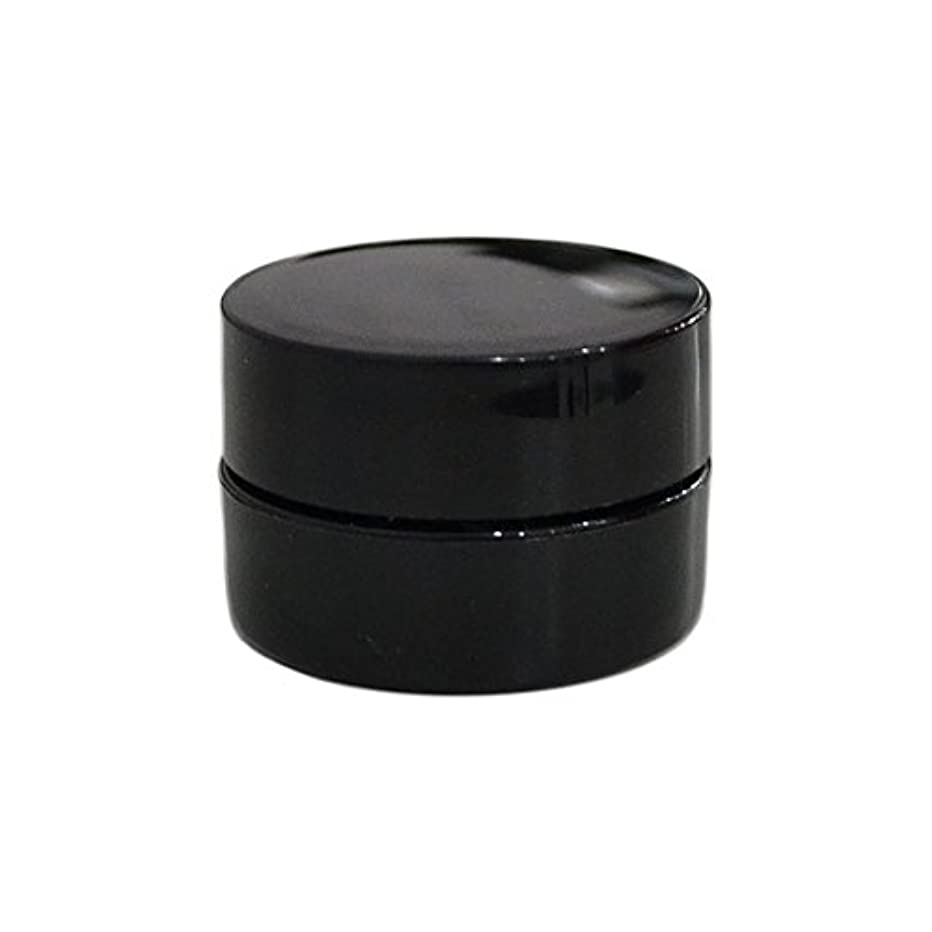 純国産ネイルジェルコンテナ 3g用 GA3g 漏れ防止パッキン&ブラシプレート付容器 ジェルを無駄なく使える底面傾斜あり 遮光 黒 ブラック