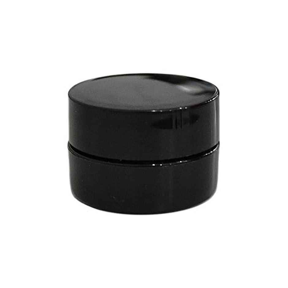 永続不機嫌増強純国産ネイルジェルコンテナ 3g用 GA3g 漏れ防止パッキン&ブラシプレート付容器 ジェルを無駄なく使える底面傾斜あり 遮光 黒 ブラック