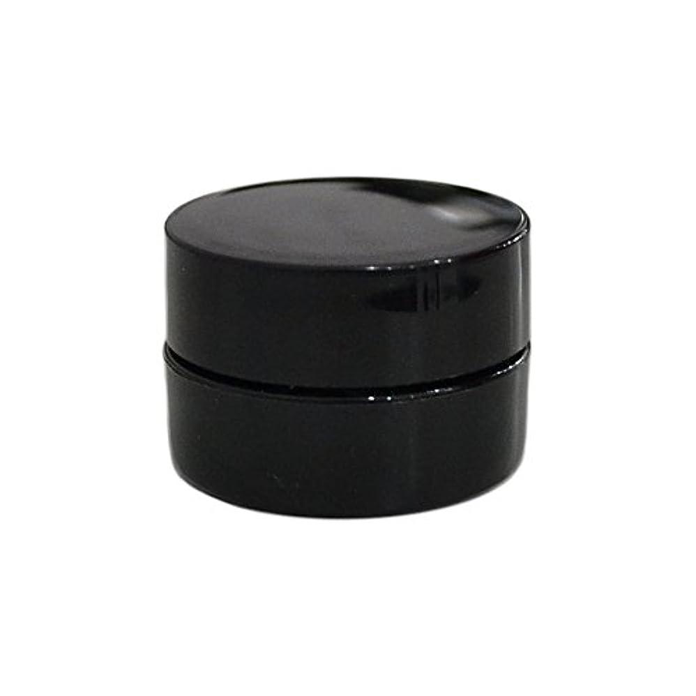 材料一致時々純国産ネイルジェルコンテナ 3g用 GA3g 漏れ防止パッキン&ブラシプレート付容器 ジェルを無駄なく使える底面傾斜あり 遮光 黒 ブラック