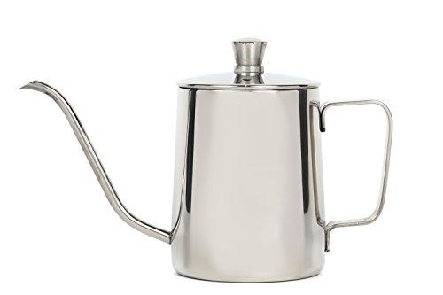 et Sorire コーヒー ドリップポット ステンレス ドリップケトル ハンドドリップ コーヒーポット 350ml Silver