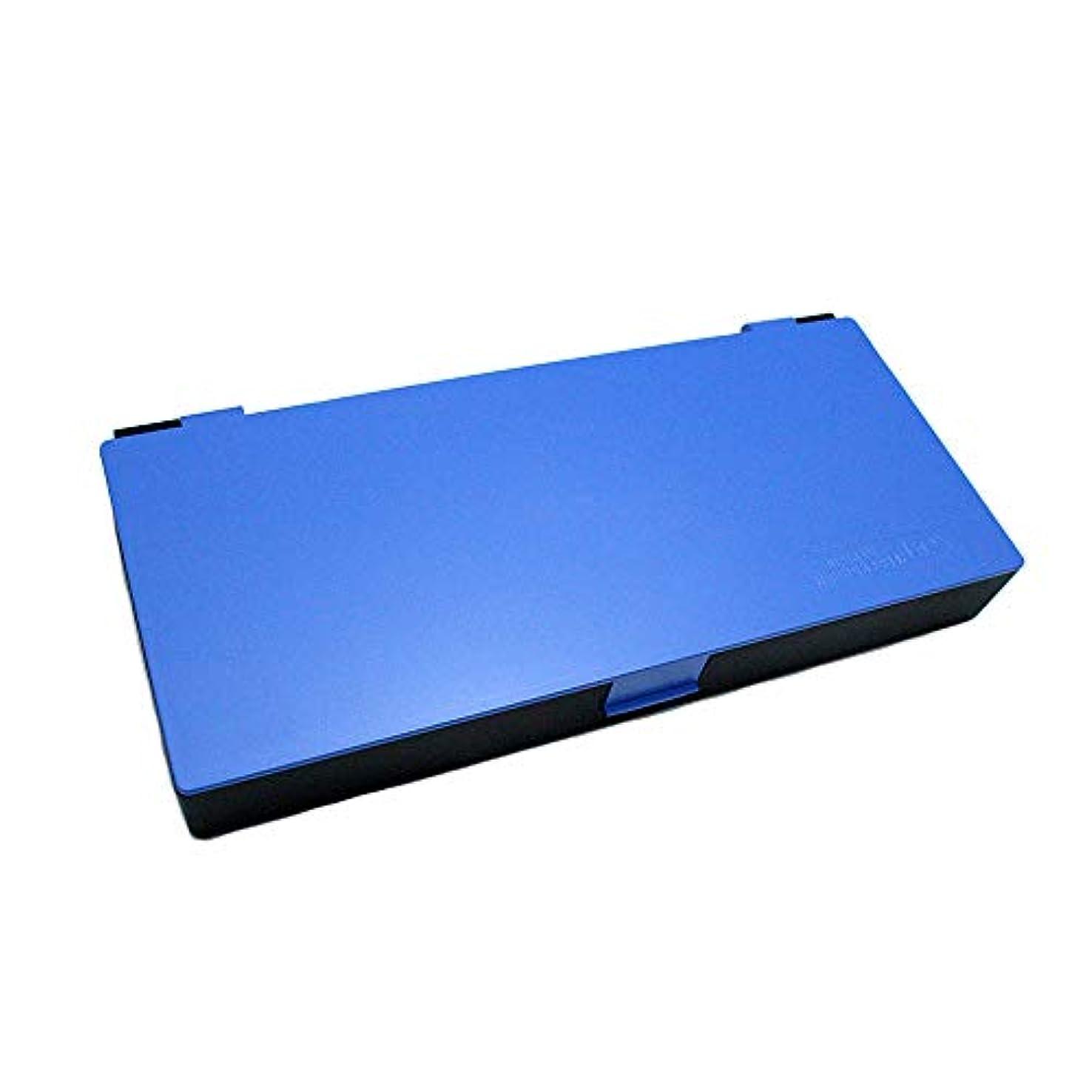 留め金足ワーカーアップスタイリングシステムボックス (ブルー) ノンスリップ ヘアピン ケース コスメボックス メイクボックス メークボックス メイクケース メークケース
