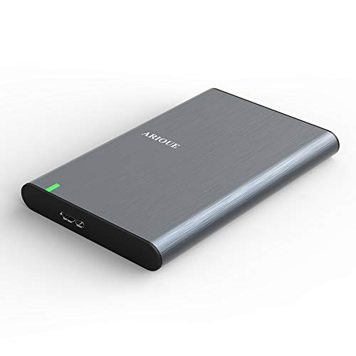 2.5インチ HDD/SSDケース ARIOUE USB3.0 ハードディスクケース SATAⅠ/Ⅱ/Ⅲ対応 9.5mm/7mm厚両対応 UASP対応 Windows/Mac両対応 簡単脱着 アルミ 高放熱性 (2.5インチHDDケース - ダークグレー)