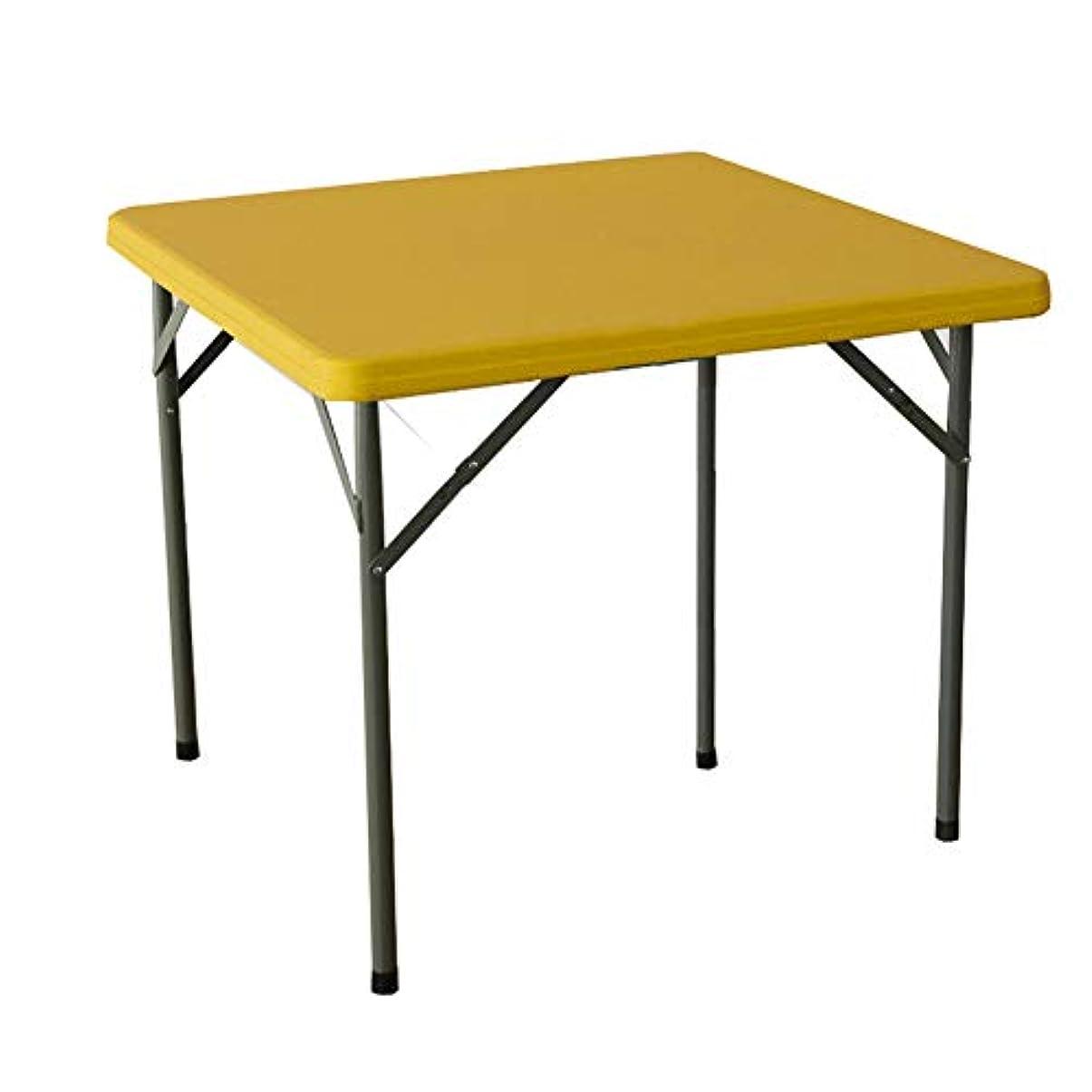 NJLC折りたたみサイドテーブル、ダイニングテーブルホーム折りたたみテーブルスクエアシンプルな多機能折りたたみテーブル,D