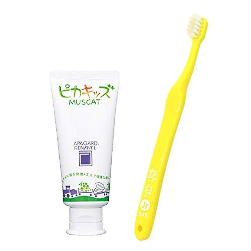 アパガードリナメル ピカキッズ 50g+ 艶白(つやはく) 子供用 歯ブラシ (6歳~12歳用) 1本 MS(やややわらかめ) 歯科医院取扱品