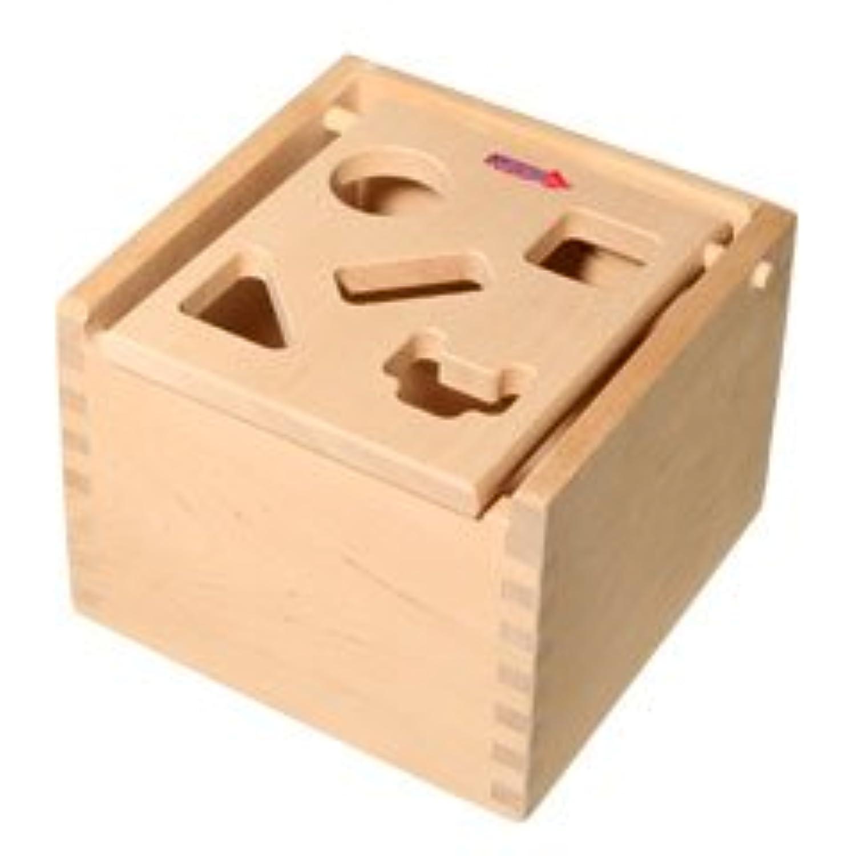 MICKI ミッキィ社 Mポストボックス 白木 (39) Micki Leksaker Sorting Box with Plain Wood Top 10706600 並行輸入品