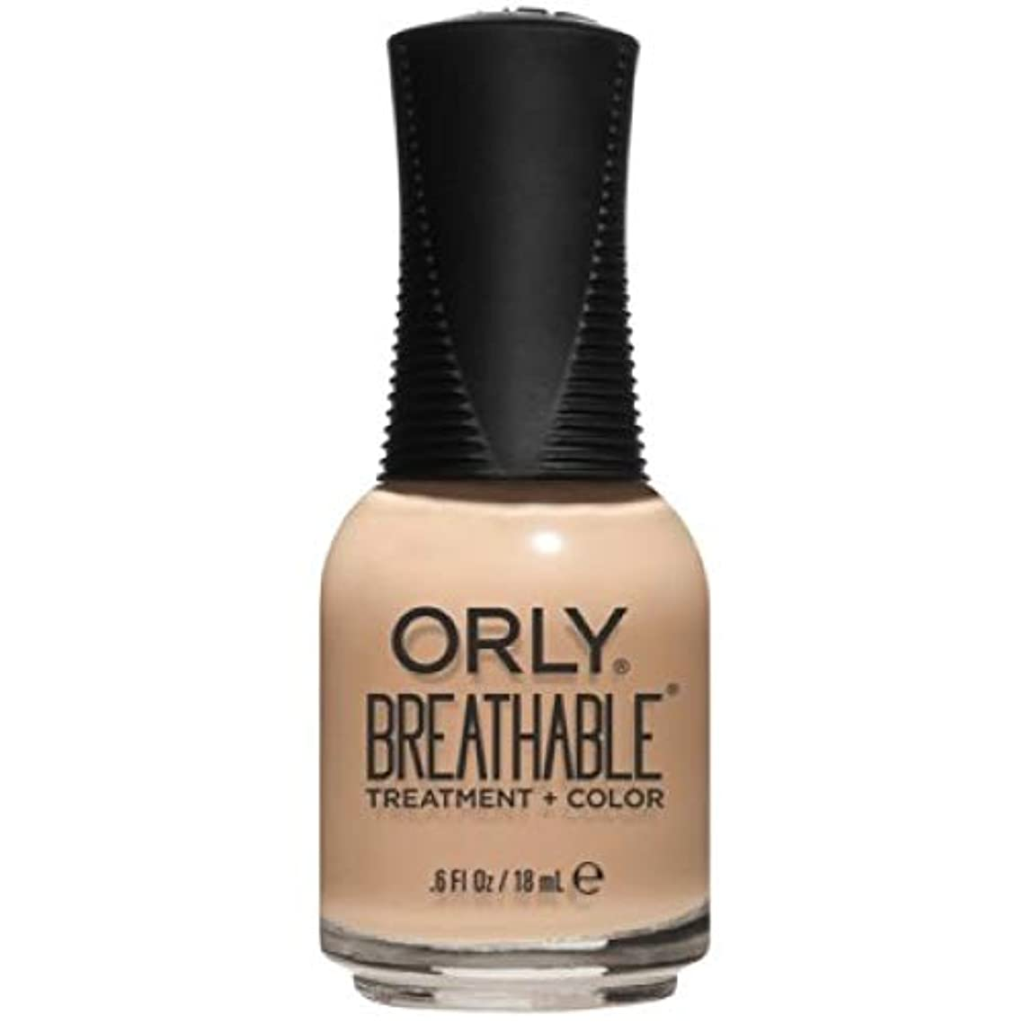 耐える終わらせる発言するOrly Breathable Nail Lacquer - Treatment + Color - Mind, Body, Spirit - 0.6 oz / 18 mL