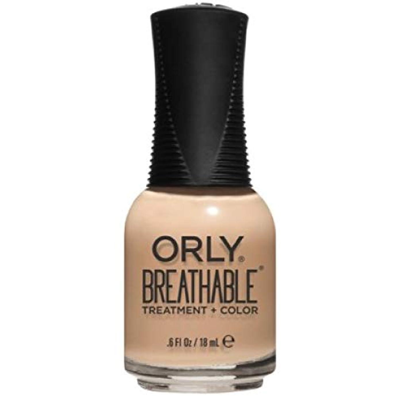 到着スティック膨らませるOrly Breathable Nail Lacquer - Treatment + Color - Mind, Body, Spirit - 0.6 oz / 18 mL