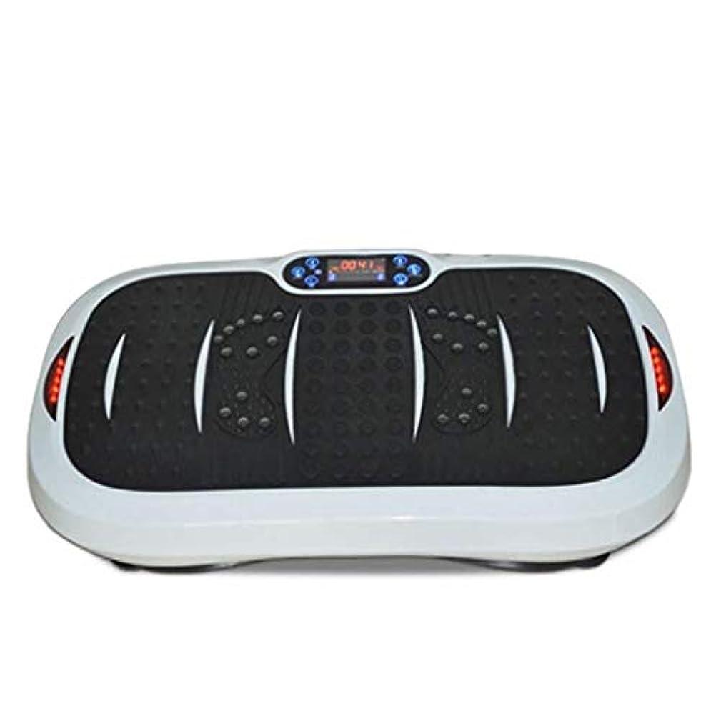 爆発官僚実り多い家庭用減量装置、超薄型振動フィットネストレーナー、スポーツおよび3Dフィットネス振動プレート、USB音楽/スピーカー付き/ 99レベル減速ボディおよびタッチディスプレイ滑り止め表面