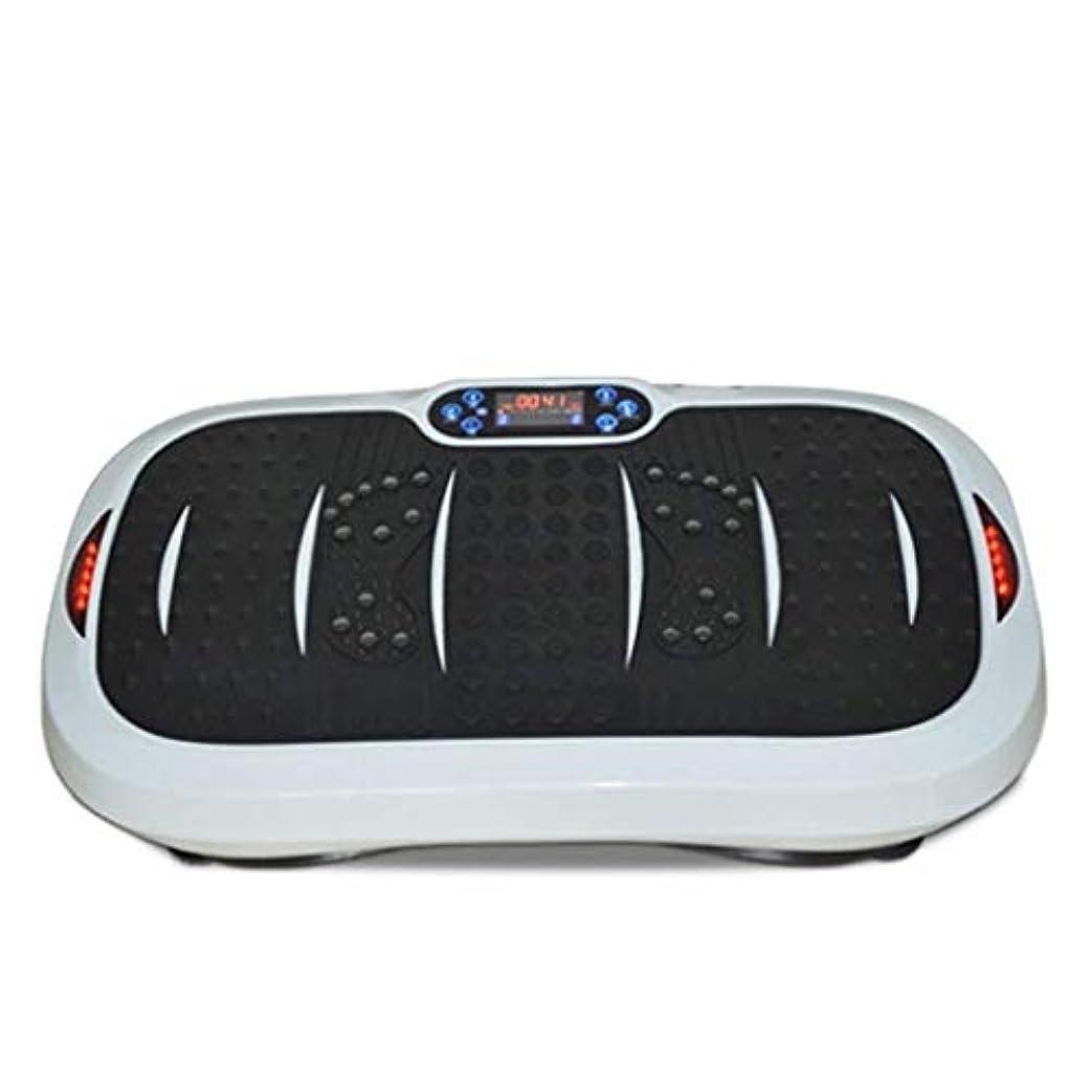 クラシックファイナンスアマゾンジャングル家庭用減量装置、超薄型振動フィットネストレーナー、スポーツおよび3Dフィットネス振動プレート、USB音楽/スピーカー付き/ 99レベル減速ボディおよびタッチディスプレイ滑り止め表面
