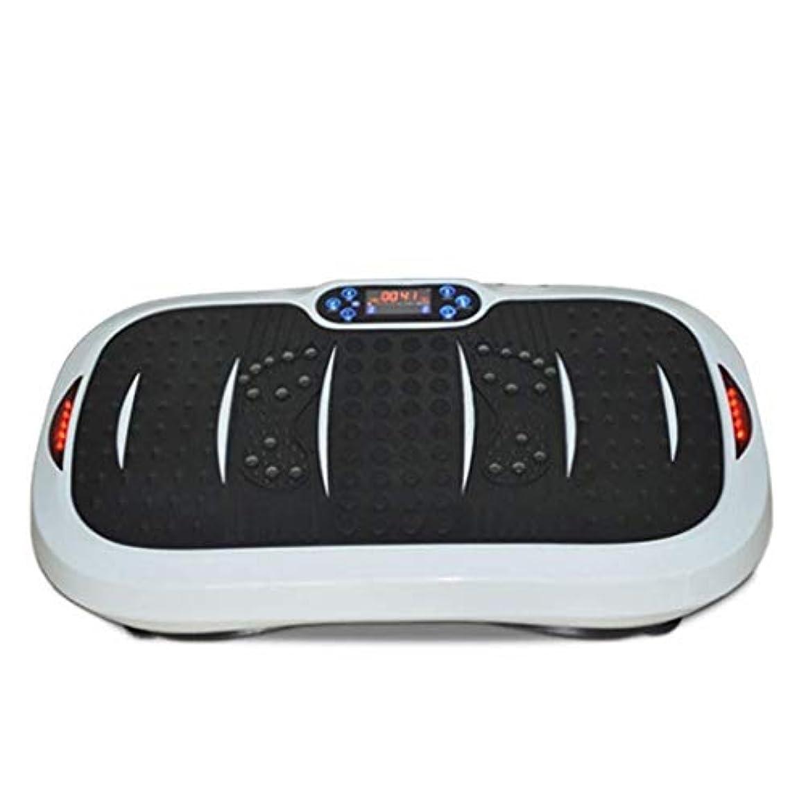 瞳不条理検出家庭用減量装置、超薄型振動フィットネストレーナー、スポーツおよび3Dフィットネス振動プレート、USB音楽/スピーカー付き/ 99レベル減速ボディおよびタッチディスプレイ滑り止め表面