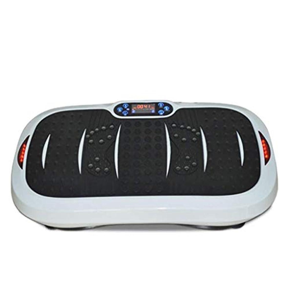 否認するスライスカップル家庭用減量装置、超薄型振動フィットネストレーナー、スポーツおよび3Dフィットネス振動プレート、USB音楽/スピーカー付き/ 99レベル減速ボディおよびタッチディスプレイ滑り止め表面