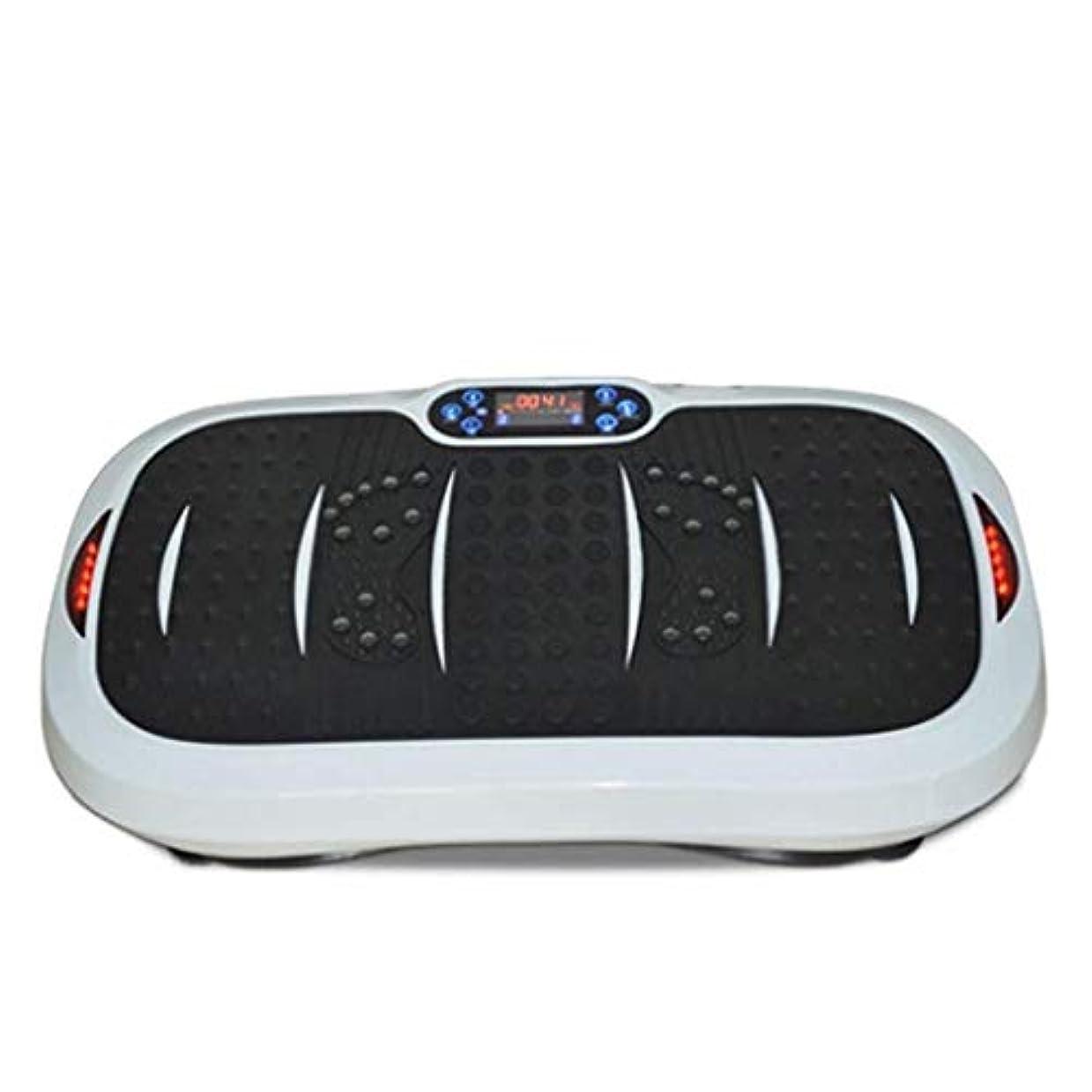 狂ったミットパワー家庭用減量装置、超薄型振動フィットネストレーナー、スポーツおよび3Dフィットネス振動プレート、USB音楽/スピーカー付き/ 99レベル減速ボディおよびタッチディスプレイ滑り止め表面