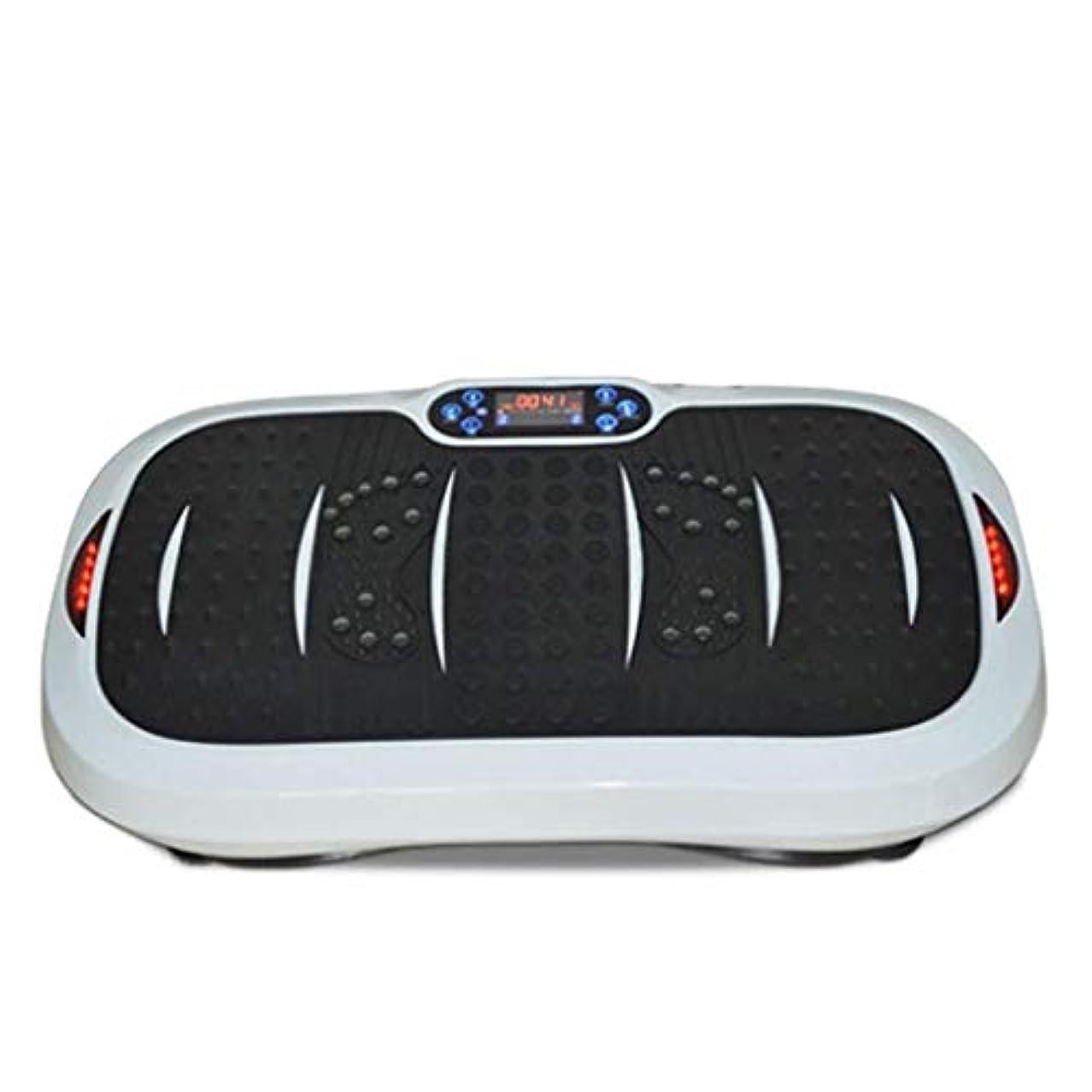 一晩試みなので家庭用減量装置、超薄型振動フィットネストレーナー、スポーツおよび3Dフィットネス振動プレート、USB音楽/スピーカー付き/ 99レベル減速ボディおよびタッチディスプレイ滑り止め表面