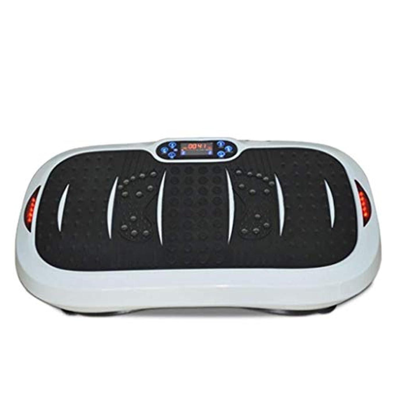 もっと味わう手数料家庭用減量装置、超薄型振動フィットネストレーナー、スポーツおよび3Dフィットネス振動プレート、USB音楽/スピーカー付き/ 99レベル減速ボディおよびタッチディスプレイ滑り止め表面
