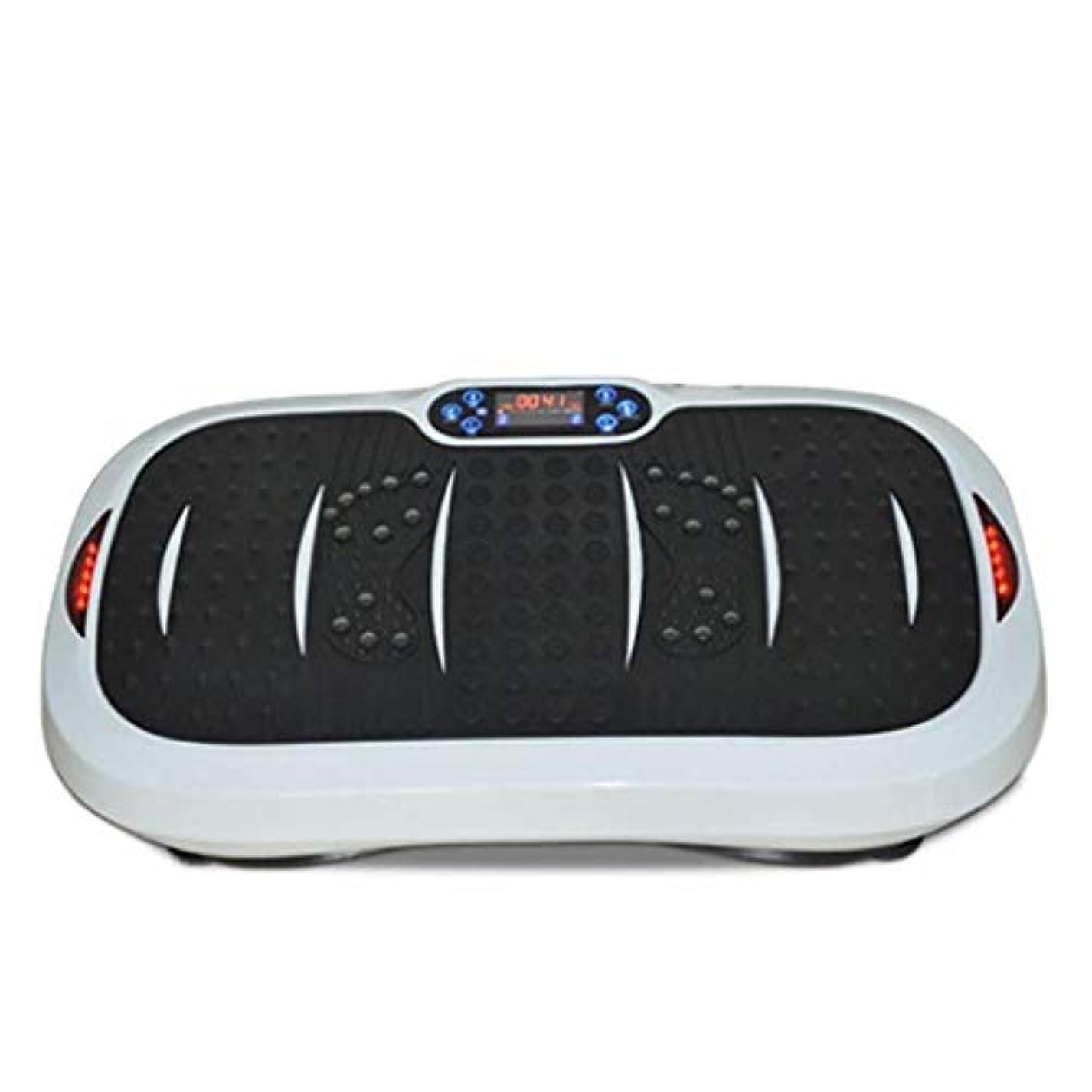 謝罪する何故なのカーフ家庭用減量装置、超薄型振動フィットネストレーナー、スポーツおよび3Dフィットネス振動プレート、USB音楽/スピーカー付き/ 99レベル減速ボディおよびタッチディスプレイ滑り止め表面