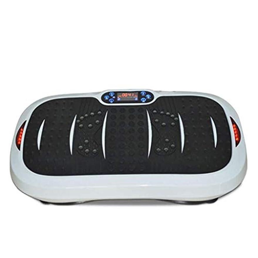 丁寧十代の若者たち不完全家庭用減量装置、超薄型振動フィットネストレーナー、スポーツおよび3Dフィットネス振動プレート、USB音楽/スピーカー付き/ 99レベル減速ボディおよびタッチディスプレイ滑り止め表面