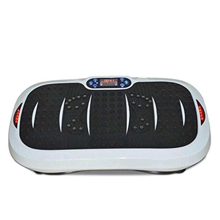 熟練した実験的石鹸家庭用減量装置、超薄型振動フィットネストレーナー、スポーツおよび3Dフィットネス振動プレート、USB音楽/スピーカー付き/ 99レベル減速ボディおよびタッチディスプレイ滑り止め表面