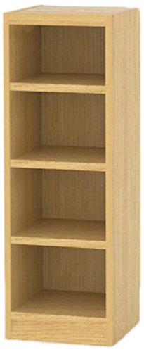 RoomClip商品情報 - 白井産業 木製 本 棚 高さ90 幅30 奥行29 cm オーダーメイド 置きたい場所ピッタリに作れる 収納 ナチュラル オーク 棚板3枚 プラス追加1枚 (タナリオ TNL-EM9030MTF2NA1)