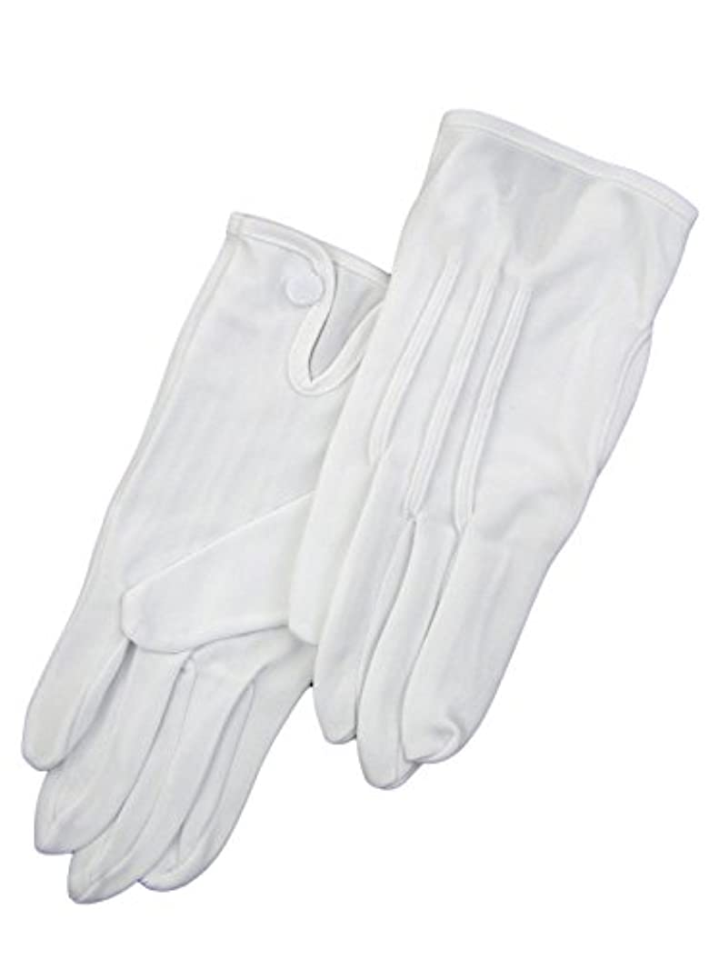 聖域取り付け加速する紳士白ナイロン手袋 105 シロ M