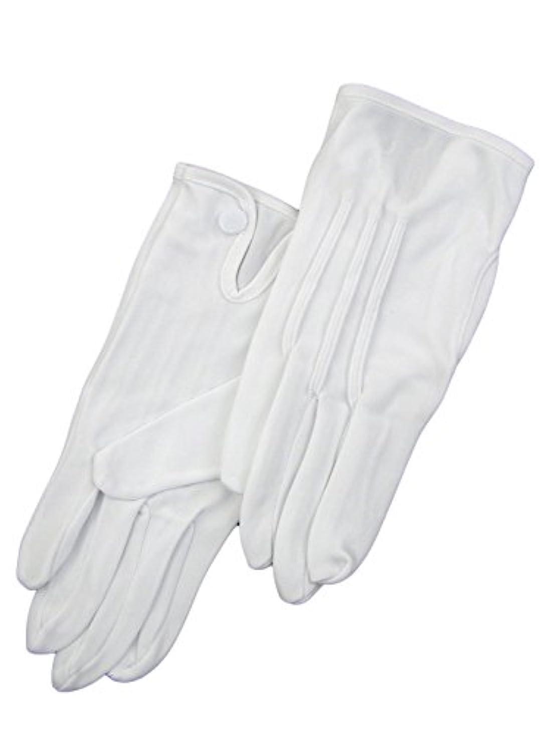 儀式チーフ痛い紳士白ナイロン手袋 105 シロ M