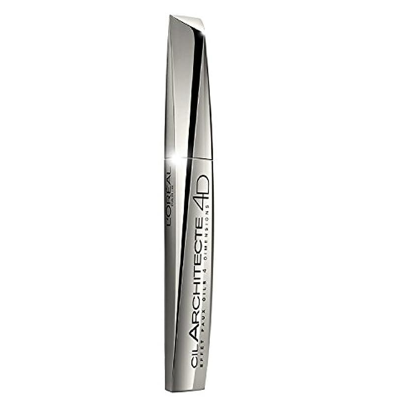 未接続アミューズ魔術師L'Oreal Paris Lash Architect Mascara 4D - Black L'オラ?アルパリラッシュアーキテクトのマスカラ4D - 黒