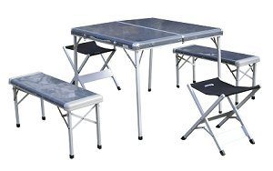 Onway (オンウェー) フアミリーテーブルセツト/アース Family Table Set OW-8484-BLK グッドデザイン賞後継品